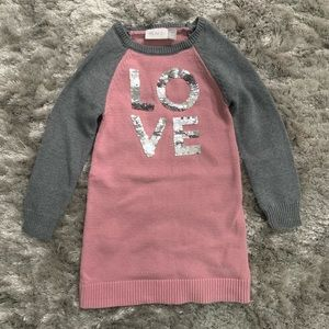 Children's Place Sequin Sweater Dress 5/6
